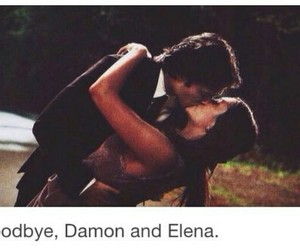damon, elena, and goodbye image