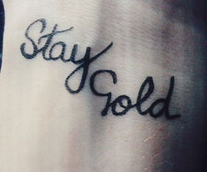 black, quote, and stay gold image