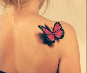 blonde, butterfly, and messy hair image