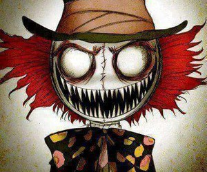 scary, alice in wonderland, and mad hatter image