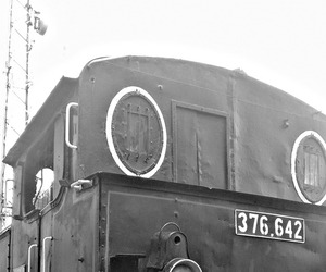 black and white, old, and train image