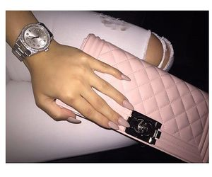 pink, chanel, and nails image