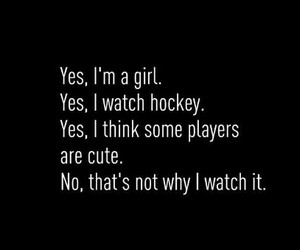 hockey, girl, and sport image