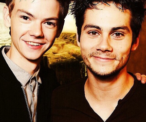 dylan o'brien, thomas, and thomas sangster image