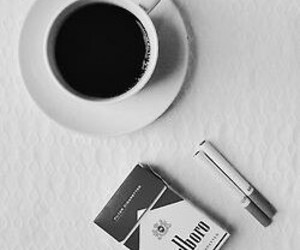 coffee, cigarette, and marlboro image