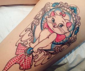 tattoo, cat, and disney image