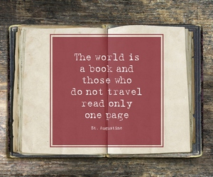 book, quote, and travel image