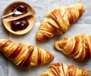 food, croissant, and jam image