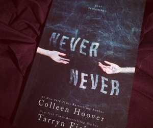 book, never never, and colleen hoover image