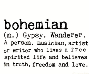 bohemian, definition, and words image