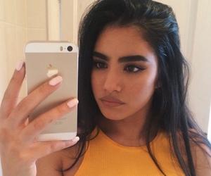 girl, eyebrows, and hair image