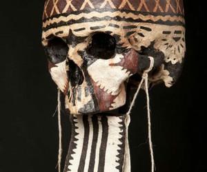 fabric, skull, and skull art image