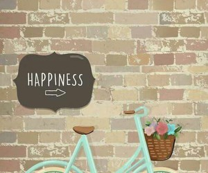 happy, bicyclette, and florales image