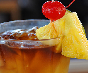 cherry, drink, and pineapple image