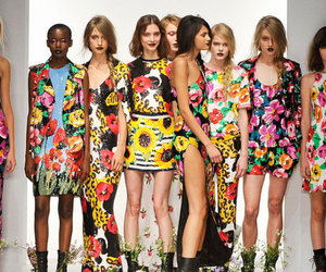 boots, floral, and runway image