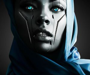 blue, eyes, and robot image