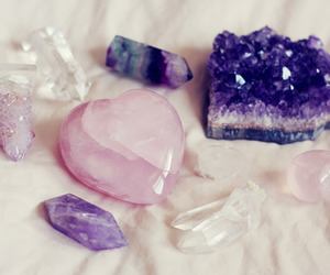 crystal, purple, and pink image