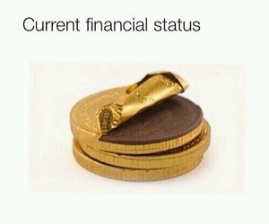 funny, money, and chocolate image