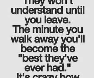 quote, leave, and life image
