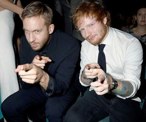 ed sheeran, calvin harris, and bbmas image