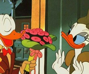 disney, donald duck, and flowers image