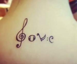 love, music, and tattoo image