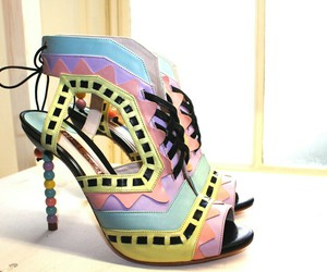 pretty shoes, high end, and pastel fashion image