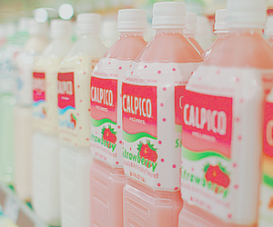 drink, kawaii, and pink image