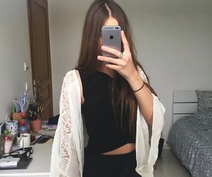 girl, fashion, and selfie image