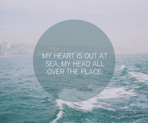 heart, sea, and quote image