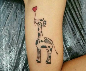 tattoo and giraffe image