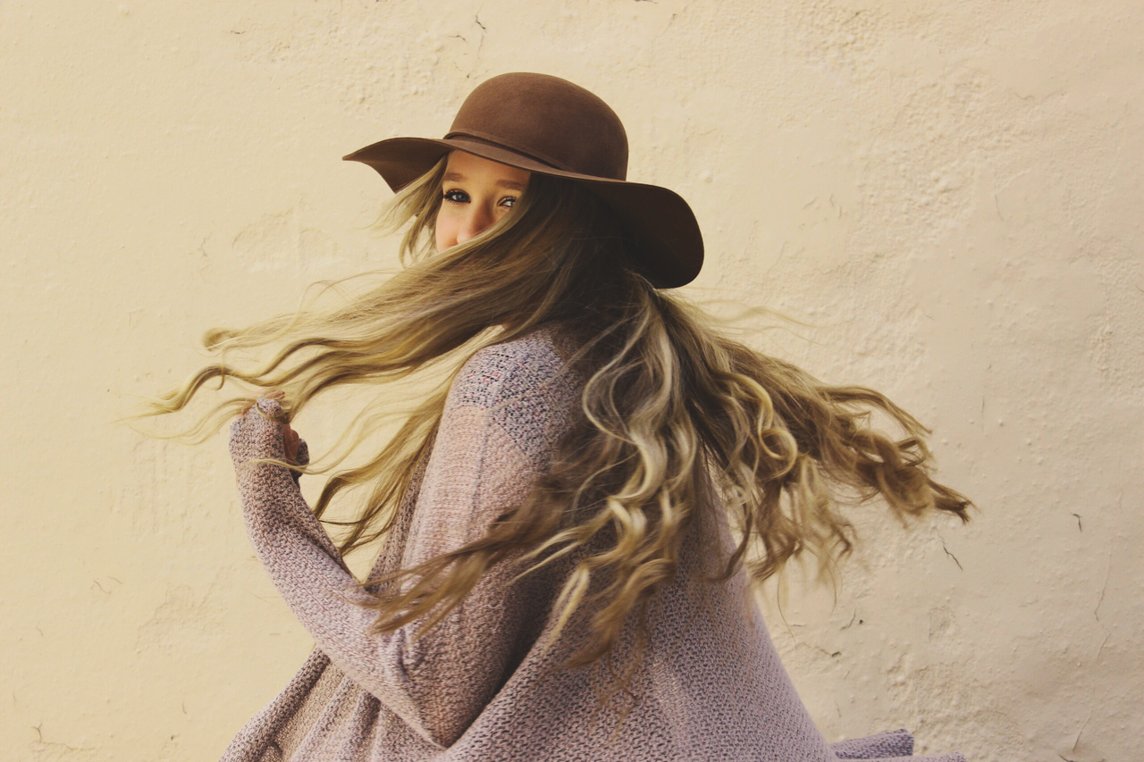 blonde, cheerful, and curls image