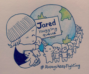 jared padalecki and always keep fighting image