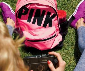 pink, bag, and Victoria's Secret image