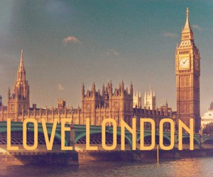 city, london, and love image