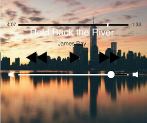 music, james bay, and hold back the river image