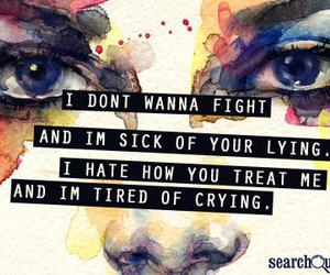 crying and fight image