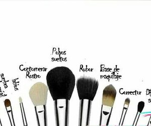 Brushes, makeup, and maquillaje image