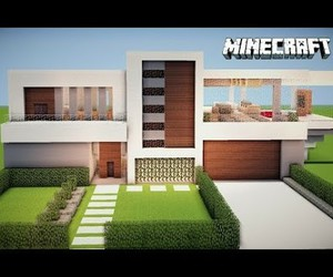 modern house, minecraft, and house minecraft image