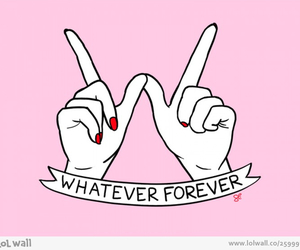 whatever, forever, and pink image