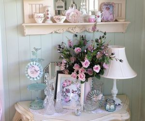 vintage, shabby chic, and flowers image