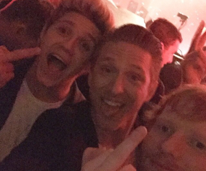 niall horan, ed sheeran, and one direction image