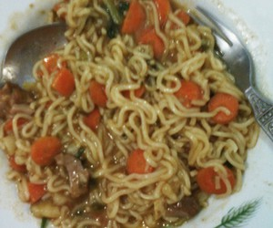 Hot, meat, and noodles image