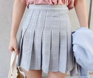 aesthetic, grey, and skirt image