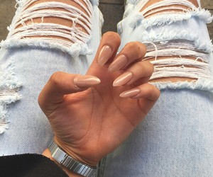 nails, jeans, and Nude image