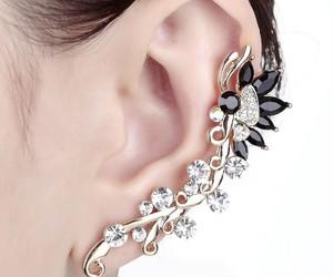 flower ear cuff, crystal flower ear cuff, and butterfly ear cuff image