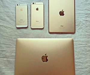 apple, gold, and iphone image