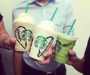 starbucks, bff, and friends image