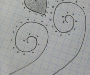 drawing, love, and heart image