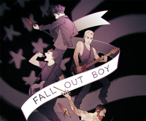 fall out boy, art, and patrick stump image